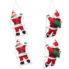 Pères Noël sur échelle 65cm déco de noël Père Noël figurine saint nicolas