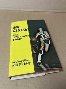 """Vintage """"MR CLUTCH"""" The Jerry West Story Book autographed 1969"""