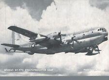 Postcard-Boeing KC-97G Stratofreighter, USAF