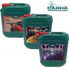 RHIZOTONIC 5L  + CANNAZYM 5L +  CANNA PK 13-14 5L  PACK OF 5 LITRES EACH