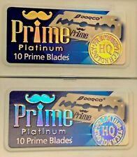 Dorco Prime Platinum Double Edge Razor Blades 2 packs  20 Blades Made in Korea