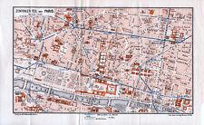 Paris  Louvre Opéra 1913 pt. plan orig. Métro en constr. Concorde Châtelet Cité