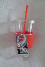 Copco Sierra Tumbler Stir and Sip Cup Straw 24 oz Bpa Free Orange New