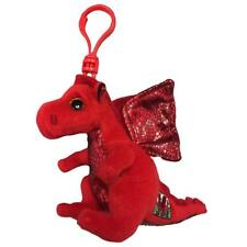 Ty Beanie Babies 36627 Y Ddraig Goch Red Welsh Dragon Key Clip