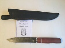 "Damascus Steel Custom Handmade Knife ""Finka Sapera"" by Nazarov Forge"