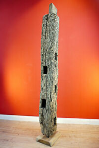 Altholz Balken Teak Holz Deko Skulptur altes Teakholz rustikal shabby upcycling