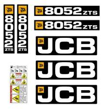 JCB 8052 ZTS decals stickers, repro decal kit