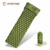 *SLEEPING PAD CAMPING MAT WITH PILLOW AIR MATTRESS EDC INFLATABLE OUTDOOR HUNT*