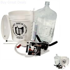Complete Home Brewing Kit Beer Brew Wine Making Equipment W/ 6 Gal Glass Carboy