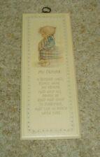 "Vtg. Springbok Hallmark Betsey Clark ""My Prayer"" Plaque - 13"" X 5"""