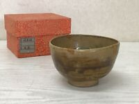 Y1635 CHAWAN Oro box Japanese bowl pottery Japan tea ceremony