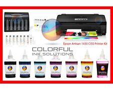 NEW Epson Artisan 1430 Printer + CISS + 600ml Pro Dye Ink + Print Head Cleaner