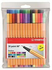 STABILO Point 88 Fineliner - Assorted Colours, Wallet Of 30 (Include 5 Neon