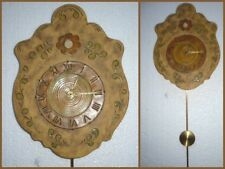 Keramik WANDUHR mit Pendel ♛ HANDARBEIT Marjosser Tonwaren