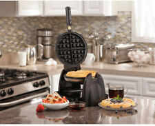 Flip Electric Belgian Waffle Maker Removable Non-Stick Cast Iron Plates