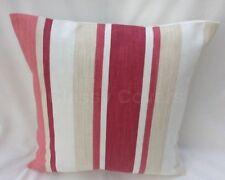 "Laura Ashley Designer Cushion Cover ""AWNING STRIPE"" PALE CRANBERRY Various Sizes"