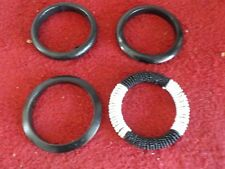 Chico's 3 Black & 1 Black & White Bracelets (NAT) LOT #25