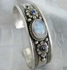 Fancy tibet silver opal&lapis beads cuff bracelet