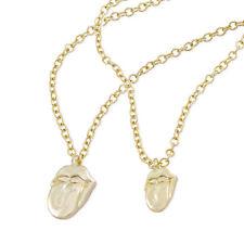 The Rolling Stones Gold Tongue Necklace & Bracelet Set