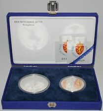 More details for 1991   norway '94 lillehammer olympics 100 & 50 kroner two-coin set    km coins