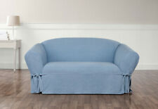 Sure Fit Chambray Loveseat Box Seat Cushion Style One Piece