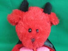 RED BLACK DEVIL CAPE COSTUME I LOVE YOU VALENTINE'S DAY WALMART PLUSH STUFFED 10