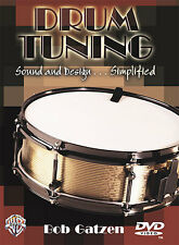 Drum Tuning Tune Drums Instruction Tutor Lesson DVD NEW