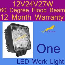 One LED Work Light flood beam lamp12V/24V/27W/6500K/60 Degree 1 yr warranty S27