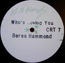 "Beres Hammond Who's Loving Who/You 12""Lovers WHITE LBL PROMO Charm Version VINYL"