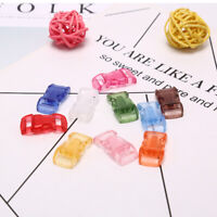 10xOutdoor Mixed Colorful Curved Transparent Dog Collar Umbrella Rope BuckleR_ws
