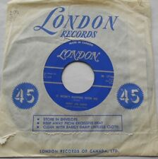 """JERRY LEE LEWIS It Won't Happen With Me / Cold heart CANADA 1961 LONDON 45 7"""""""