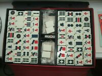 MAH JONG VINTAGE CHINESE GAME OF FOUR WINDS WITH INSTRUCTION BOOKS
