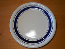 "Tienshan Country Crock Blue Set of 3 Salad Plates 8"" Blue Bands"
