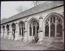 Glass Magic Lantern Slide WINCHESTER CATHEDRAL CLOISTERS C1890 PHOTO