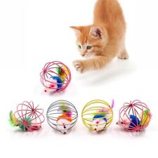Cat Interactive Mouse Cage Plastic Artificial Colorful Teaser Toy Pet Supplies