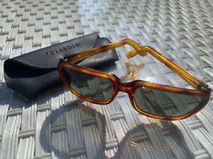 Vintage Men's Tortoiseshell POLAROID Sunglasses 8112 Square Frame Designer 70's