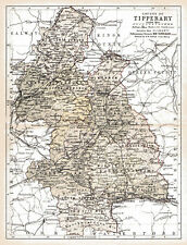 County Tipperary Ireland Map.Tipperary Antique Europe County Maps Ebay