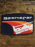 """SportsCar 5"""" Embroidered Sew On Patch Sports Car Racing Series Badge IMSA Race"""