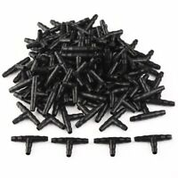 100pcs Yard Garden Irrigation Ploy Tee Pipe Barb Hose Fitting Joiner Drip System