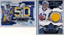 KURT WARNER - Chrome FS Super Bowl Pulsar /50 & Crown Royale Patch /199 - Rams