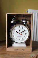 Newgate Desk Traditional Alarm Clock Metal Chrome Silver Twin Bells VAT