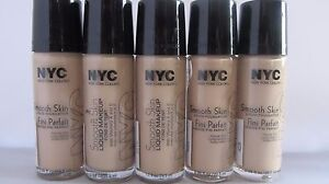 NYC Smooth Skin Liquid Makeup Vitamin A E Natural Pick Color 677 679 680 681 682