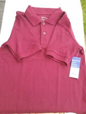 George Boys' Burgundy Short Sleeve School Uniform Polo Shirt Size M (8)