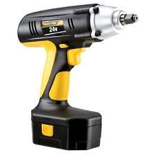 "Cordless Wrench Impact Drill Gun 1/2"" Drive 24-Volt 240 ft Torque Case Battery"
