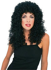 Long Black Curly Deluxe Unisex Wig