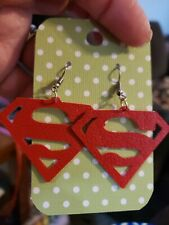 Superman Faux leather earrings are so light!