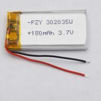 3.7v 180mah Polymer Li lithium cells 302035 for mp3 bluetooth headset record pen