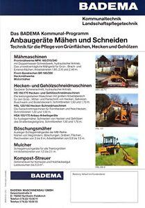 BADEMA Anbaugeräte Mähen + Schneiden 02/94 Agrar-Prospekt 1 S #626