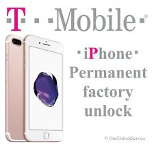 T-Mobile iPhone 7  7+ 100% FACTORY UNLOCK SERVICE CLEAN FINANCED INACTIVE