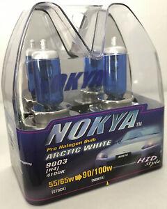 Vintage Nokya 9003 H4 Arctic White Light 55/65W Halogen Headlight Bulbs 4100K